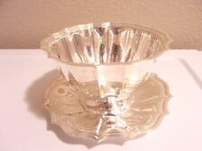 CHIPPENDALE INTERNATIONAL SILVER CO NUT BOWL W/ UNDERPLATE MODEL 6313