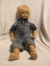 """Timi doll by Annette Himstedt Barefoot children series 1986 22"""" Tall"""