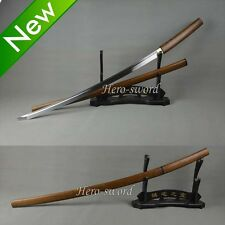 Handmade Ninja Sword T1095 steel Japanese samurai Shirasaya Katana cut bamboo