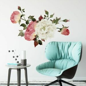 Wall Stickers Watercolor Peony Decals Murals Living Room Background Home Decor
