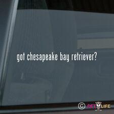 Got Chesapeake Bay Retriever Sticker Die Cut Vinyl - #2 chessie cbr