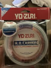 YO-ZURI HD Carbon Fluorocarbon Leader ~ Disappearing Pink ~ 30 yds ~ 100lb.