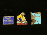 1980's Vintage Mafco Colorado Collection (Lot of 3) hat pins, lapel, tac New!