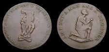 British 1790s Conden Token Middlesex Anti Slavery Half Penny Token DH1037 Scarce