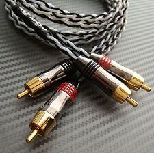 1M COPPIA Puro Argento interconnessioni placcato oro alta qualità connettori RCA