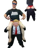 Donald Trump darauf Reiten Schweinchen Rücken Huckepack Maske Kostüm US