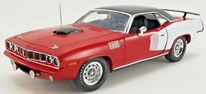 1971 Plymouth Hemi Cuda 1 of 1 Red with white Billboards LE MIB PRE-ORDER