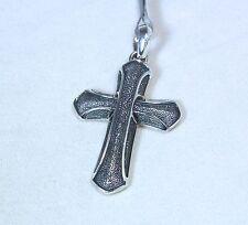 New David Yurman Men's Armory Cross Pendant Enhancer 42mm Sterling Silver $315