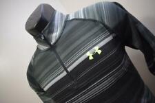 33899 Mens Under Armour HeatGear Loose Striped Zip Neck Golf Jacket Size Small