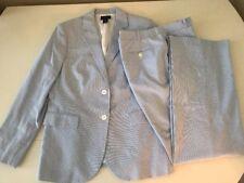 Brooks Brothers 346 Light Blue Pinstripe Seersucker Suit Career Exc!! Size 12