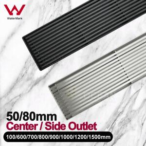 Black Silvery 600/700/800/900/1000/1200/1500MM Stripe Shower Grate Floor Drain