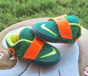 "Nike KD VII ""Green/Orange/Volt"" BRAND NEW Toddler 3C"