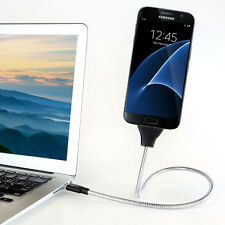 Flexible-Stand-Up-Metal-Cable-Charger-Mount-For Android Devices-US-seller