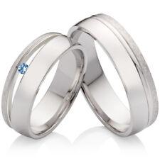 Eheringe Verlobungsringe Trauringe 925 Silberringe mit Topas Ring Gravur SPT59