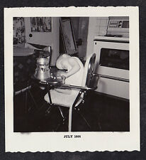 Vintage Antique Photograph Adorable Baby Sound Asleep w/ Head on Highchair Tray