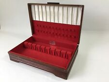 Vtg 1881 Rogers Silverplate Oneida Wooden Flatware Silverware Storage Chest Box