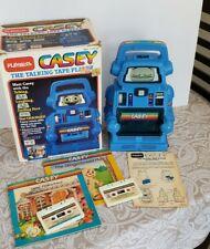 Vtg Playskool Casey The Talking Tape Player Robot Cassette Learning Toy WORKS +