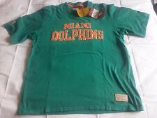 REEBOK CLASSICS T-SHIRT Sz S MIAMI DOLPHINS NFL RETRO STYLE RARE LOOSE FIT