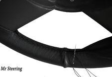 FOR VOLKSWAGEN GOLF MK3 JH 91-98 REAL BLACK GRAIN LEATHER STEERING WHEEL COVER