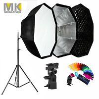 Meking 80cm Octagon Umbrella Softbox + Honeycomb Grid+ Light Stand Lighting Kit