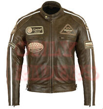 Veste En Cuir Moto Homme, Vintage, Cafe Racer, Leather Jacket, Blouson, Rocker
