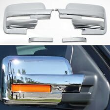 Fit 2009-2014 Ford F150 Full Chrome Side Mirror Covers W/ Turn Signal F-150