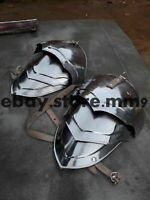 Larp Fantasy Medieval Costume Steel Armour Pauldrons Inch Combatant Halloween