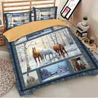 Horse Duvet Cover Set For Comforter Twin/Full/Queen/King Size Bedding Set Animal