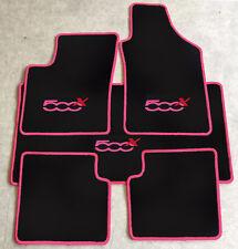 Autoteppich Fußmatten Kofferraum Set für Fiat 500x ab 2014' pink rot 5tlg. Neu