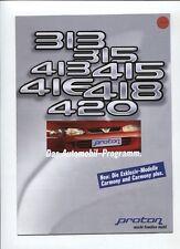 N°5319 /  catalogue proton 313-315-413-415-416-418-420      1997  deutsch text