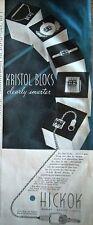 1941 HICKOK Kristol Blocs Jewelry Ad