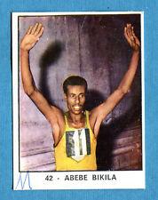 [GCG] CAMPIONI DELLO SPORT 1966/67 - Figurina/Sticker n. 42 - ABEBE BIKILA -Rec