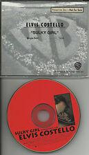 ELVIS COSTELLO Sulky Girl w/ RARE EDIT RADIO PROMO DJ CD single 1994