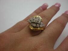 LADIES 14KYG DIAMOND 0.70CTW CLUSTER RING, 6.8GR(xpv861/04)