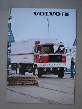 VOLVO  truck model F 88  brochure/Prospekt  02-1974.