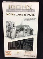 Fascinations  Iconic 3D Metal Model Notre DAme De Paris New In Box
