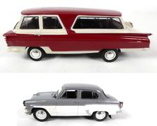 Lot of 2 miniature cars ussr ctatp + moskvitch 407 1/43 ixo diecast car lr8