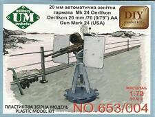 U.S. 20mm L/70 OERLIKON ANTI-AIRCRAFT GUN MARK 24  #653 1/72 UM/DIY