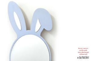 Safety Mirror Bunny Ears Duck Egg with LED light - Nursery Kid Mirror