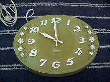 Vintage Robertshaw Company Working Electric Kitchen Wall Clock Lux 1950's