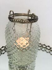 Antique Style Tall Diamond Glass Tea Light Holder Vintage Wedding Decoration
