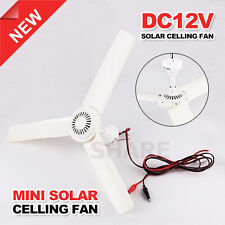 OZ M DC 12v Ceiling Fan 3 Blades Outdoor Portable Caravans Ideal For Solar Power