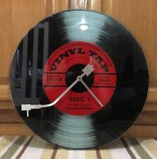 Record Player Glass Clock Vinyl Microphone Fender Guitar Pick Amp Vintage Style