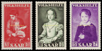 EBS Germany 1954 SAAR Welfare set - Paintings (V) Michel 354-356 MNH**