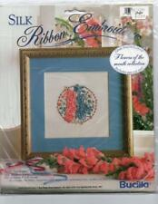 Vintage Bucilla Silk Ribbon Embroidery Kit Flowers of the Month July OOP #1