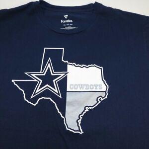 DALLAS COWBOYS NFL FOOTBALL TEE T SHIRT Sz Mens 3XL Blue / Texas / Fanatics