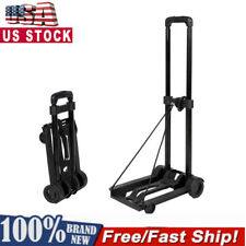 Portable Cart Mini Folding Luggage Cart Dolly Push Luggage Truck W/ Roller Wheel