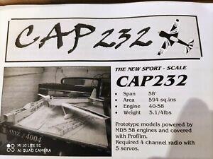 """Glens Models Cap 232 58"""" model aircraft Original Balsa Kit NIB"""