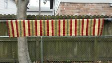 """Gold Green Red Stripe Valance Window Curtain 12""""X52"""" Free Shipping"""