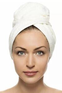 QUICK DRY HAIR TURBAN Hair Drying Towel Wrap Turban Head Hat Bun Cap Shower